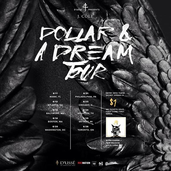 J. Cole Dollar A Dream Tour