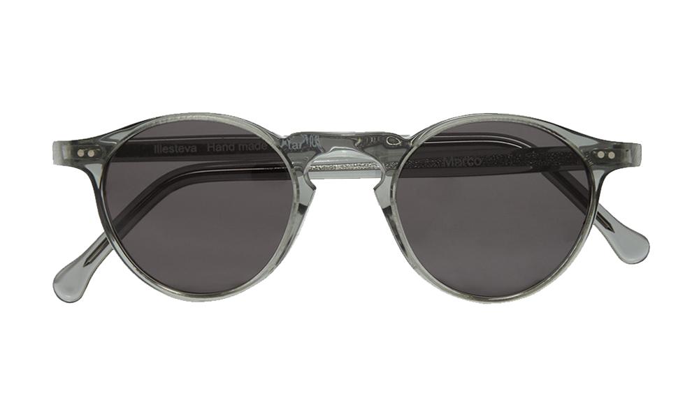 Illesteva Marco Round-Frame Sunglasses front