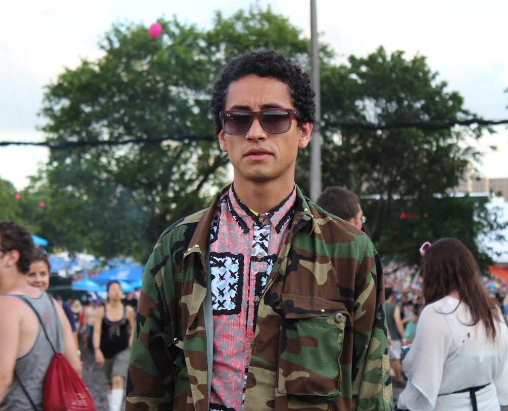 David from Columbia at Governors Ball 2013 Style