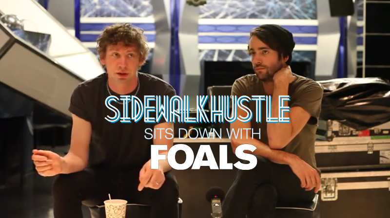 Foals Interview Sidewalk Hustle