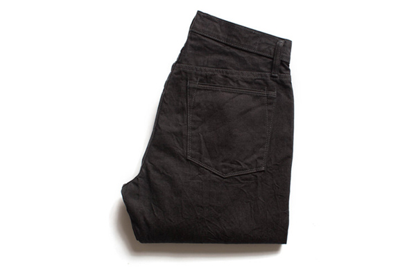 Black Denim Jeans Folded
