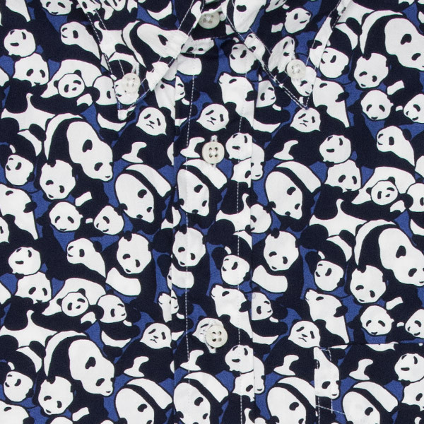 Gitman Bros. Panda Print Short Sleeve Shirt