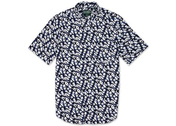 Gitman Vintage Panda Print Button Down Shirt