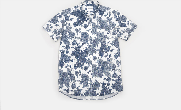 Saturdays Surf NYC Esquina Floral Print Button Down Shirt White