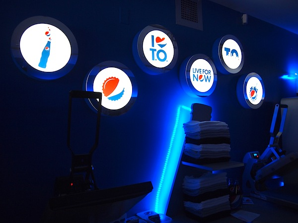T-Shirt Press at Pepsi Pop Up Toronto