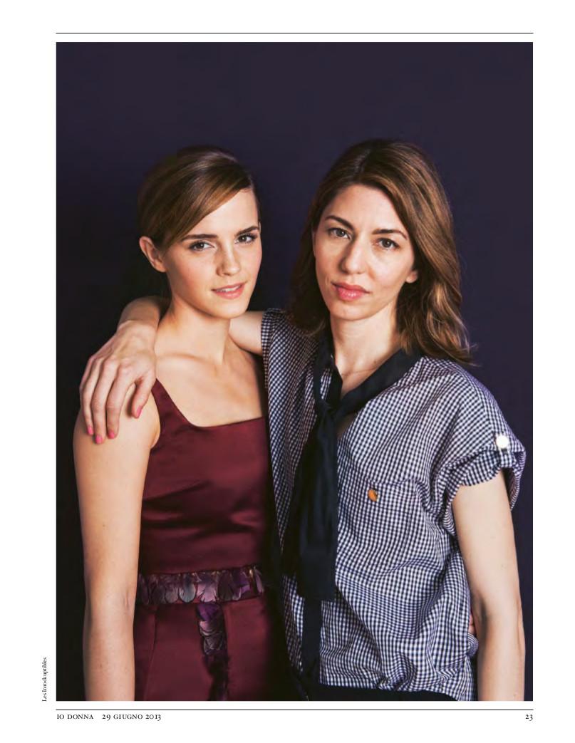 Sofia Coppola & Emma Watson for Io Donna Magazine-