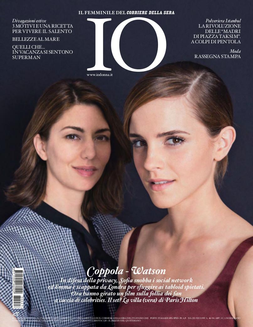 Sofia Coppola & Emma Watson for Io Donna Magazine