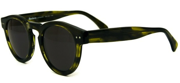 Illesteva Leonard Olive Sunglasses