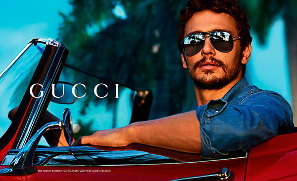 Jame Franco in Gucci Fall Winter 2013 Eyewear Campaign
