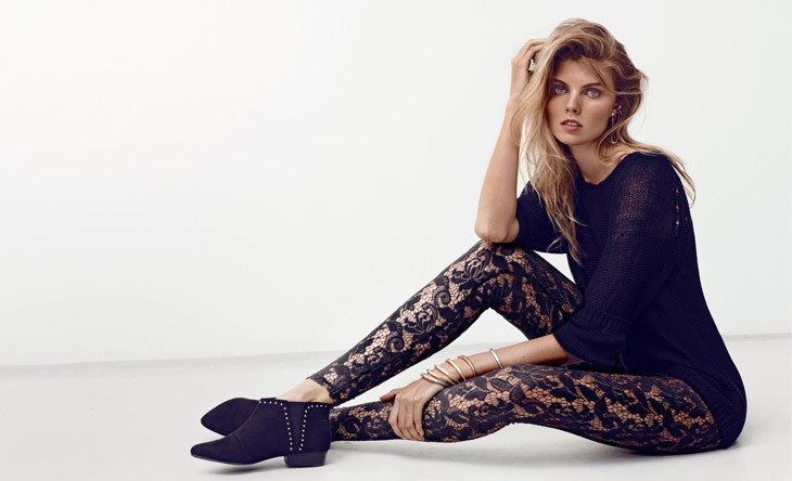 Maryna Linchuk for H&M Summer Black Lookbook-3