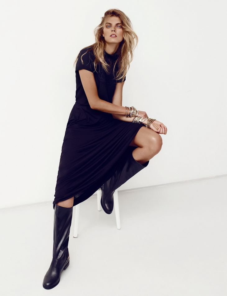 Maryna Linchuk for H&M Summer Black Lookbook-4