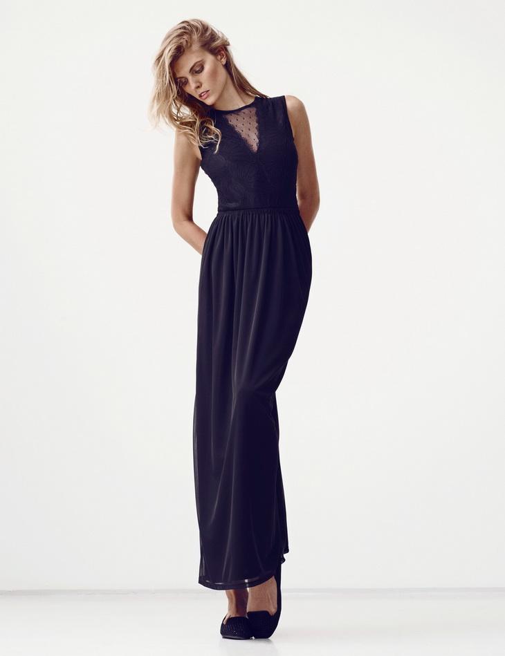 Maryna Linchuk for H&M Summer Black Lookbook-9