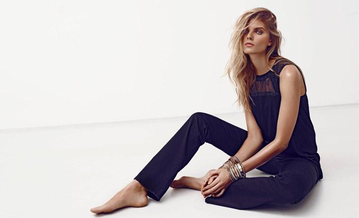 Maryna Linchuk for H&M Summer Black Lookbook
