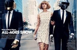 Karlie Kloss & Daft Punk for Vogue US