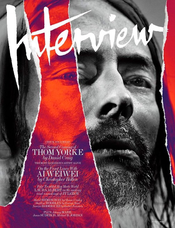 Thom Yorke for Interview Magazine August 2013 cover