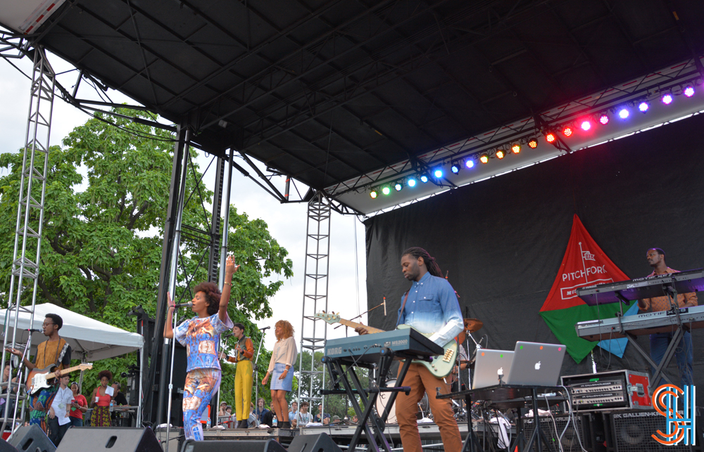 Solange at Pitchfork Music Festival 2013 - Full Band