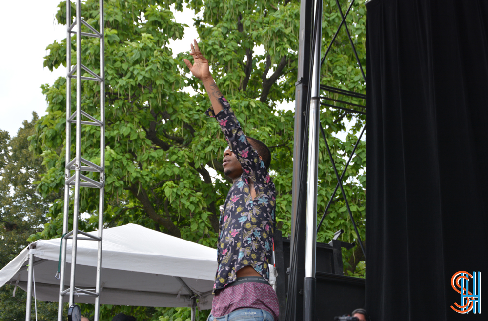 Lil B at Pitchfork Music Festival 2013 - pointing