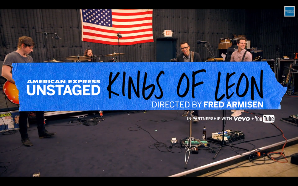American Express UNSTAGED Kings Of Leon Fred Amisen