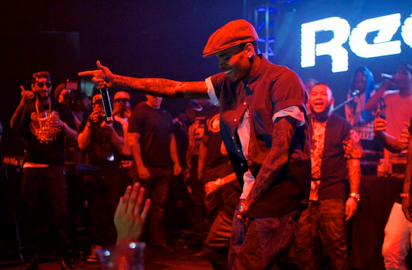 Reebok Classic concert at Project Las Vegas-Chris Brown