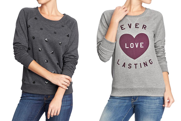 Old Navy Sweaters Graphic Sequin