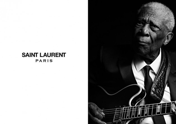 Saint Laurent with Mr. B.B King Mr. Jerry Lee Lewis Mr. Chuck Berry