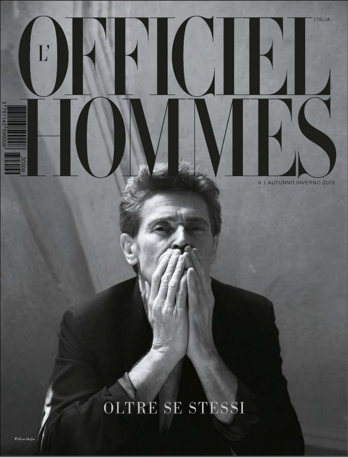 Willem Dafoe for L'Officiel Hommes Italia No.9 FW 2013