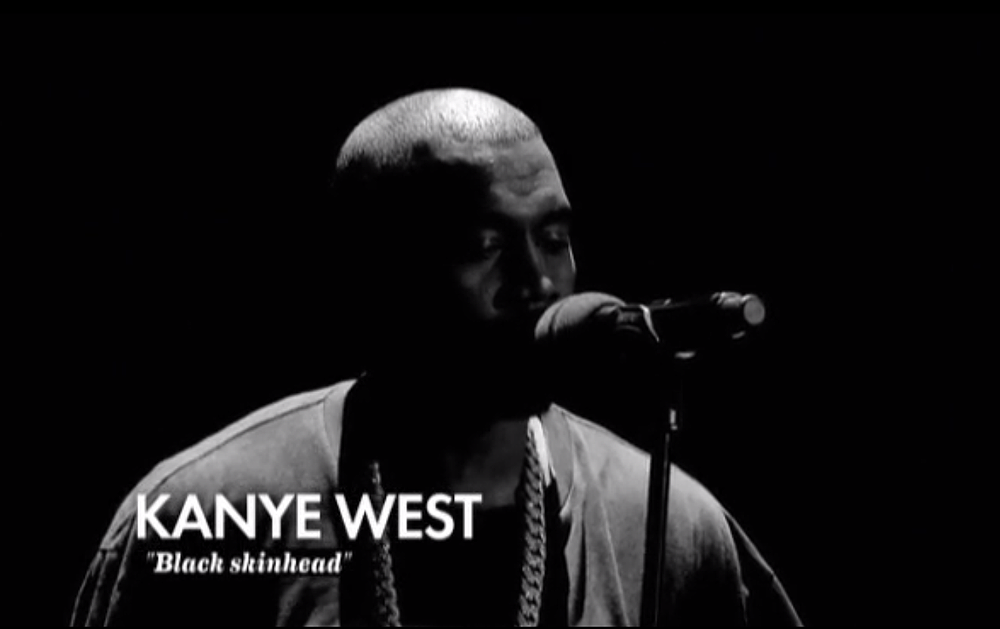Kanye West Black Skinhead on Le Grand Journal