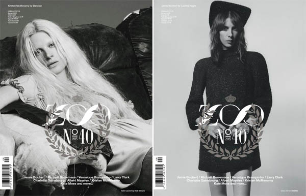 Jamie Bochert, & Kristen McMenamy for Zoo No.40 Fall 2013