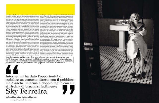 Sky Ferreira for Vogue Italia October 2013-2