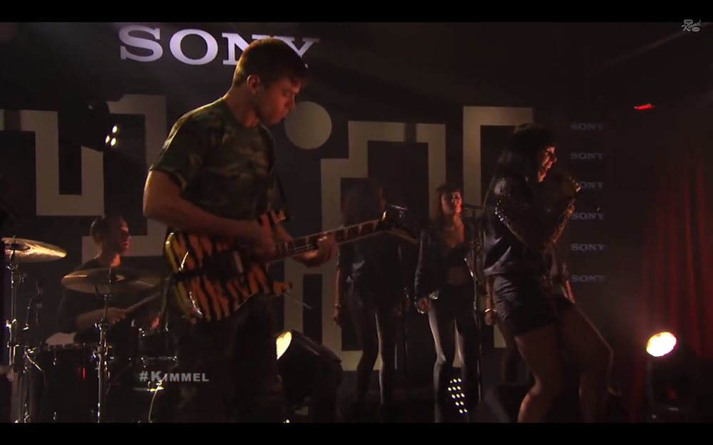 Sleigh Bells perform on Jimmy Kimmel Live