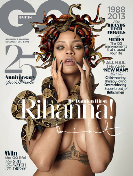 Rihanna by Damien Hirst for British GQ 25th Anniversary