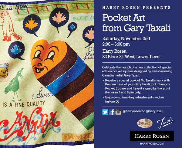 Harry Rosen x Gary Taxali Pocket Square Launch Event Toronto