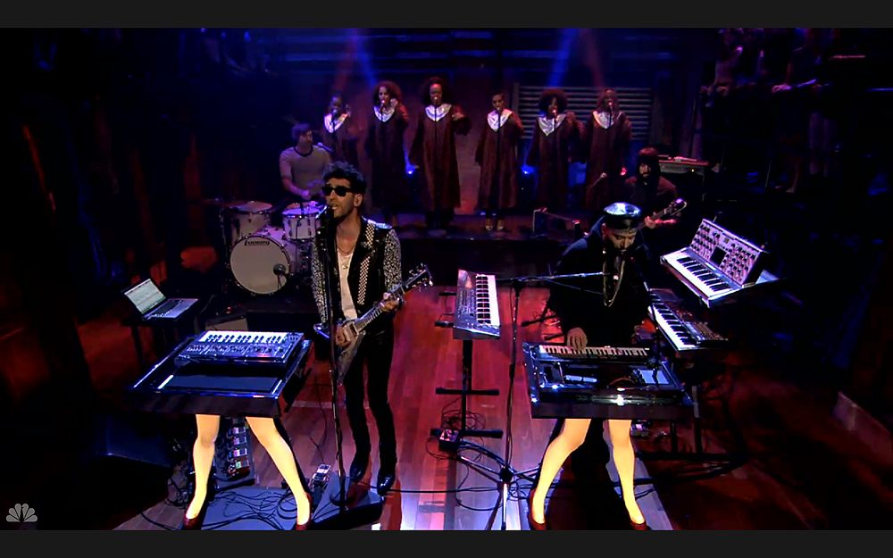Chromeo Sexy Socialite Death From Above 1979 on Late Night With Jimmy Fallon