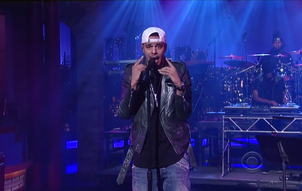 J. Cole performs Crooked Smile on Live on Letterman
