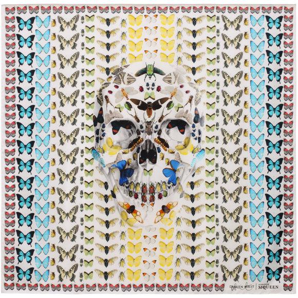 Damien Hirst x Alexander McQueen Scarf Collaboration-4