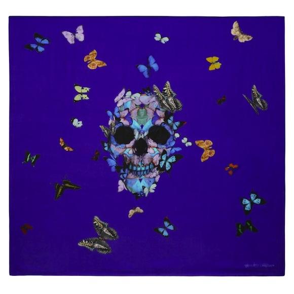 Damien Hirst x Alexander McQueen Scarf Collaboration-6