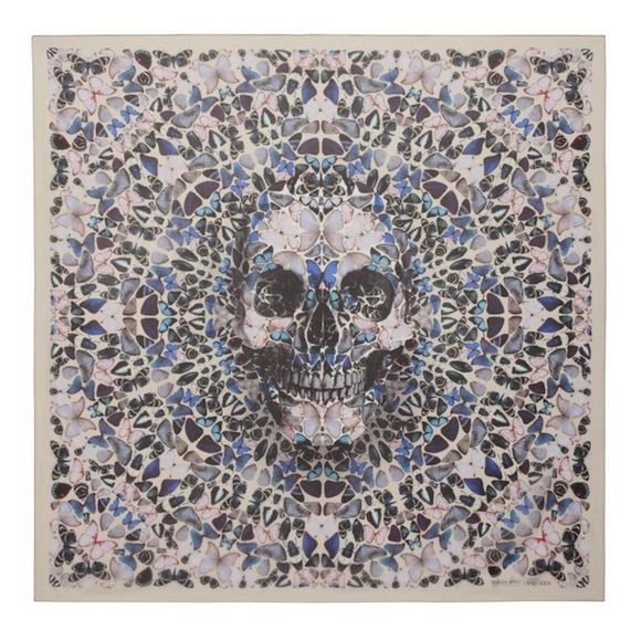 Damien Hirst x Alexander McQueen Scarf Collaboration-8