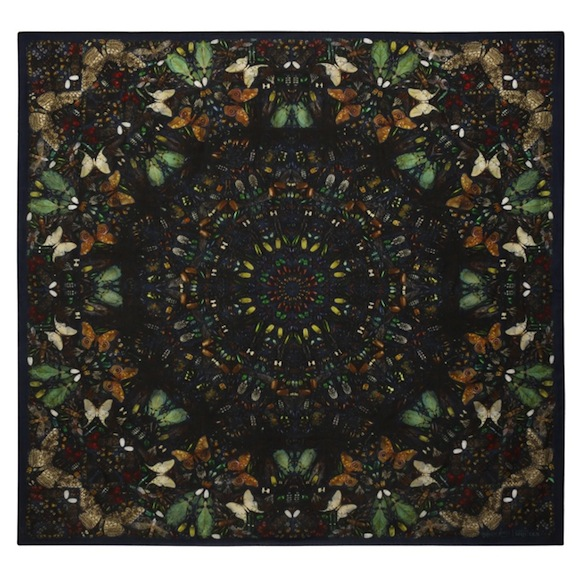 Damien Hirst x Alexander McQueen Scarf Collaboration-9