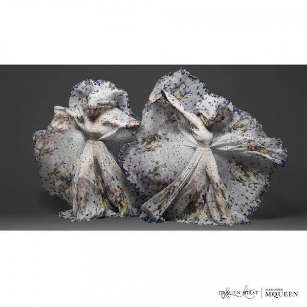 Damien Hirst x Alexander McQueen Scarf Collaboration