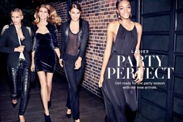 Cameron Russell, Jourdan Dunn, Maryna Linchuk, Yulia Lobova, & Sean O'Pry H&M Party Perfect