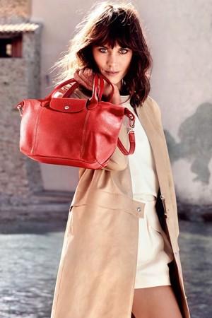 Alexa Chung for Longchamp Spring 2014