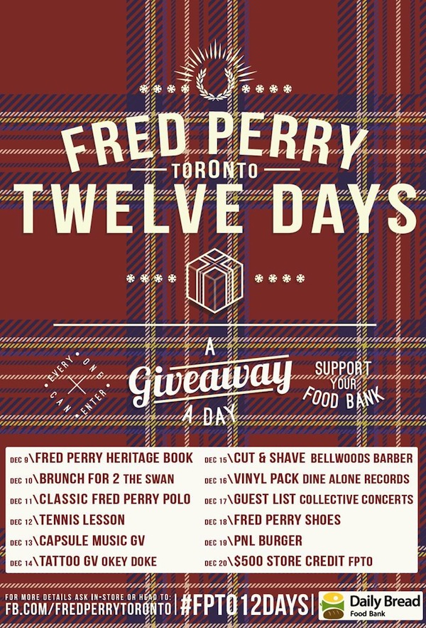 Fred Perry Twelve Days Giveaway