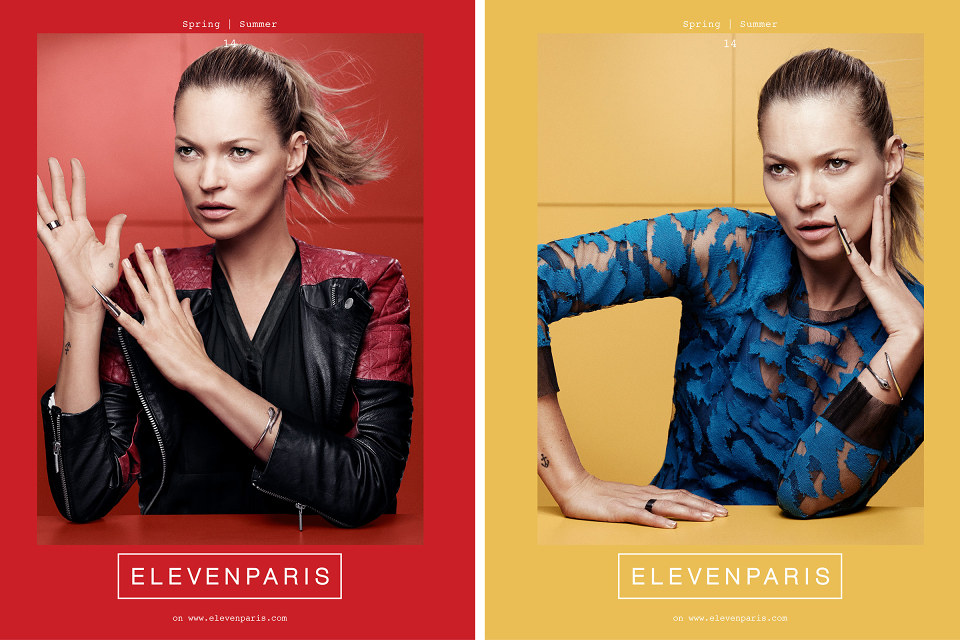 Kate Moss for ELEVENPARIS Spring Summer 2014