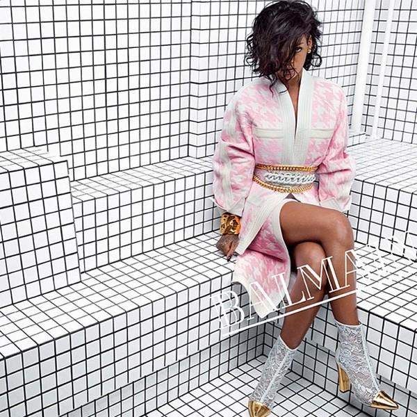 Rihanna for Balmain Spring 2014 Campaign