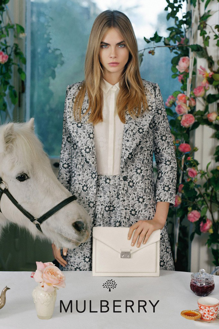 Cara Delevingne for Mulberry SS 2014-3