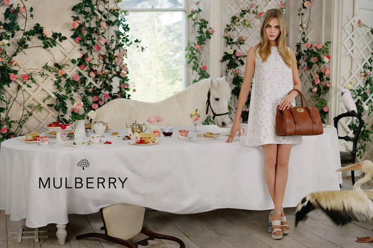 Cara Delevingne for Mulberry SS 2014