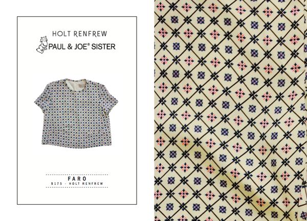 Paul & Joe Sister Spring 2014-15