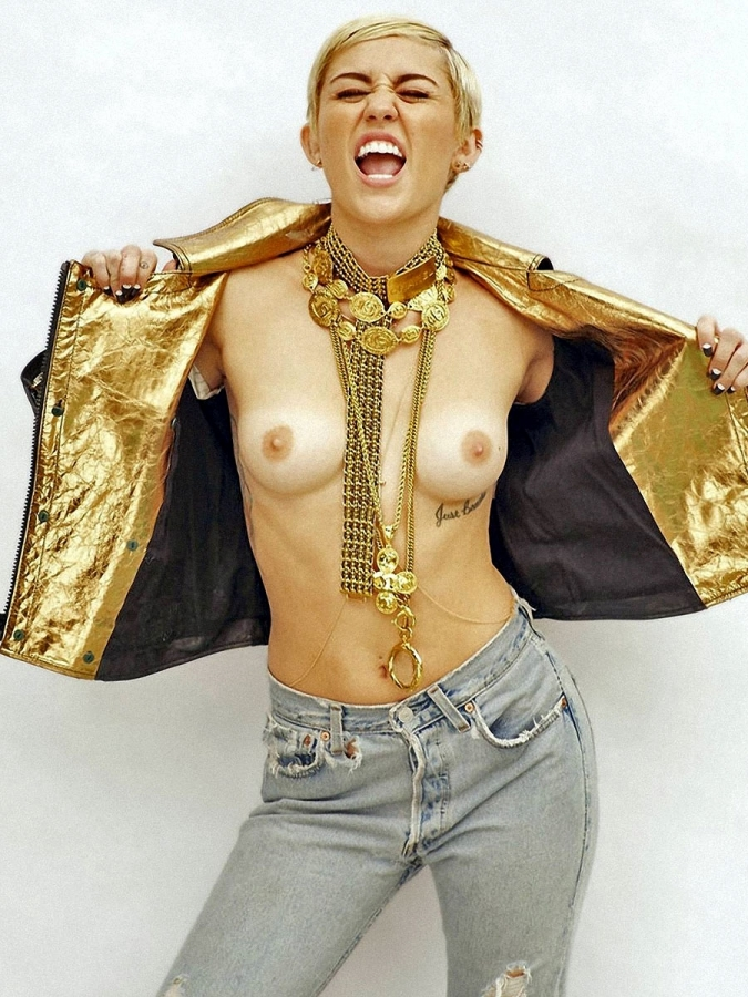 Miley Cyrus For Maim Outtake Topless