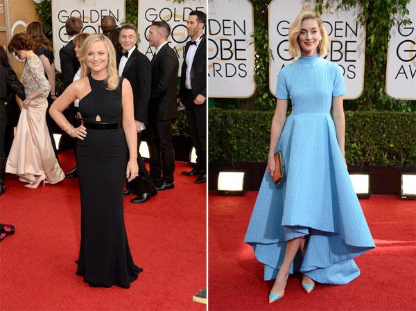 Amy Poehler in Stella McCartney, Caitlin FitzGerald in Emilia Wickstead, Golden Globes 2014