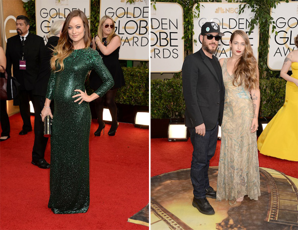 Jemima Kirke & Olivia Wilde in Gucci Golden Globes 2014